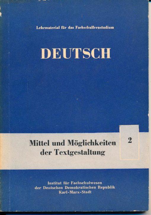 shop.ddrbuch.de DDR-Lehrmaterial für das Fachschulfernstudium, 7 Kapitel, mit vielen Übersichten