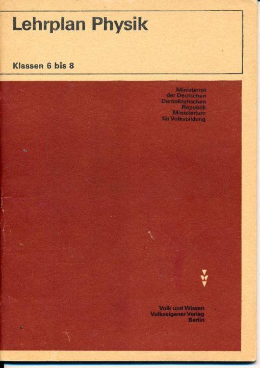 shop.ddrbuch.de DDR-Lehrplan, präzisierter Lehrplan mit Ziele und Aufgaben, Inhalt des Unterrichts, Stundenübersicht