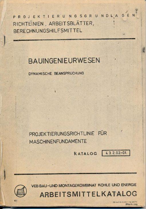 shop.ddrbuch.de Geheftete Blattsammlung, DDR-Katalog 4.3.2.02.-01., Projektierungsgrundlagen, Richtlinien, Arbeitsblätter, Berechnungshilfsmittel, mit Abbildungen