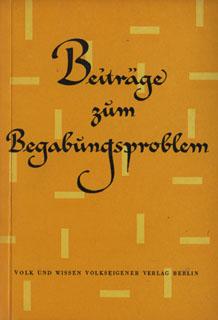 shop.ddrbuch.de Beiträge zum Begabungsproblem