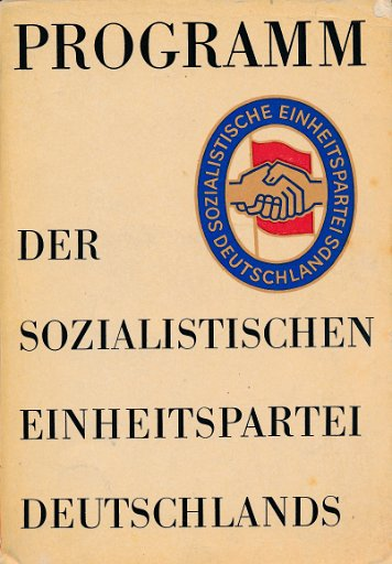 Programm der Sozialistischen Einheitspartei Deutschlands