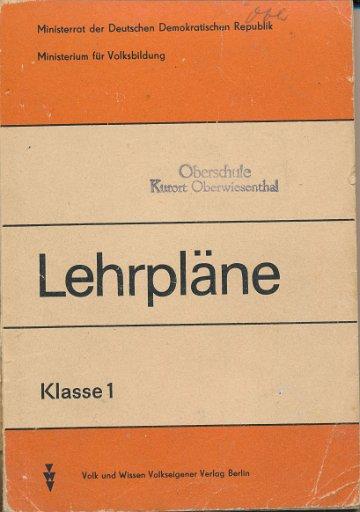 Lehrpläne Klasse 1  DDR-Lehrmaterial
