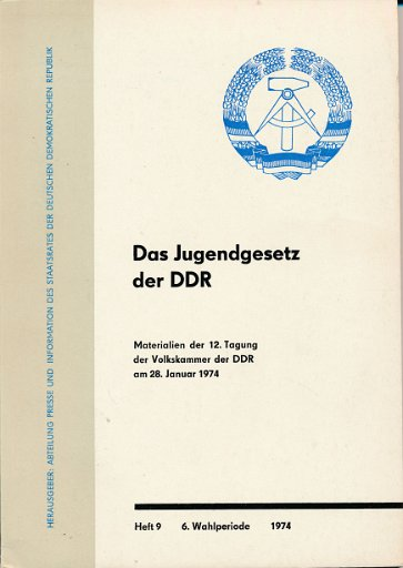 Das Jugendgesetz der DDR