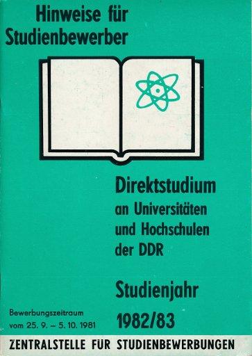 Direktstudium an Universitäten und Hochschulen der DDR