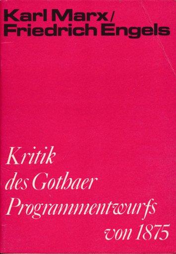 Kritik des Gothaer Programmentwurfs von 1875