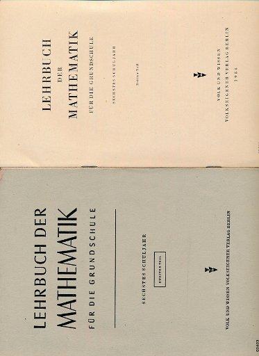 Lehrbuch der Mathematik für die Grundschule  6.Schuljahr  2.und 3.Teil  DDR-Lehrbuch