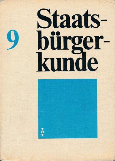 Staatsbürgerkunde Klasse 9  DDR-Lehrbuch