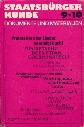 Staatsbürgerkunde Klasse 9 und 10 Dokumente und Materialien  DDR-Lehrbuch