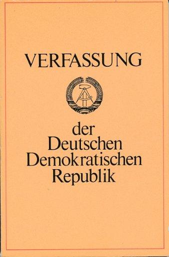 Verfassung der Deutschen Demokratischen Republik
