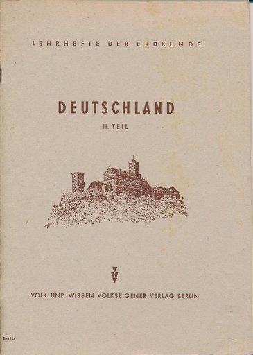 Deutschland  2.Teil  5.Klasse  DDR-Lehrheft
