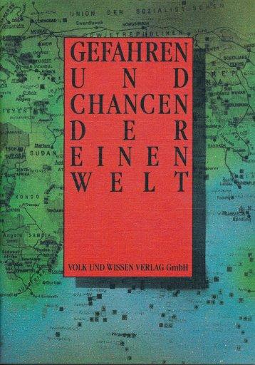 Gefahren und Chancen der einen Welt    DDR-Lehrbuch