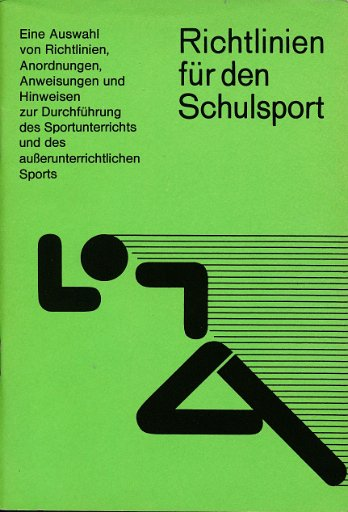 Richtlinien für den Schulsport  DDR-Lehrmaterial