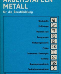 Arbeitstafeln Metall für die Berufsausbildung