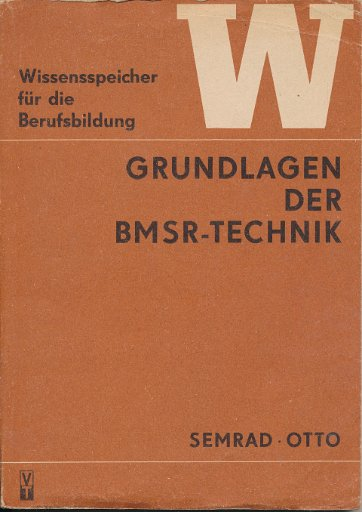 Grundlagen der BMSR-Technik  DDR-berufsbildende Literatur