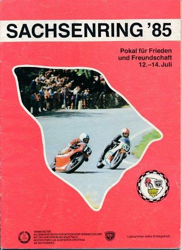 Sachsenring '85 Rennprogramm