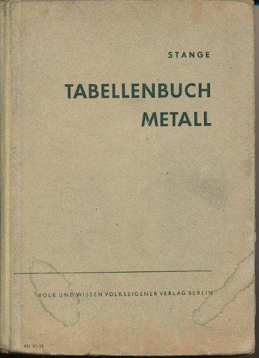 Tabellenbuch Metall  DDR-Lehrbuch