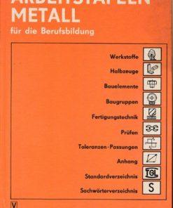 Arbeitstafeln Metall für die Berufsausbildung  DDR-Buch