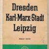 Verkehrskarte Bezirke Dresden, Karl-Marx-Stadt, Leipzig