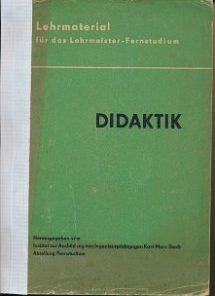 Didaktik  DDR-Lehrmaterial für das Lehrmeister-Fernstudium