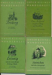 10 verschiedene DDR-Wanderhefte vom Vogtland