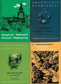 11 verschiedene DDR-Wanderhefte vom Harz