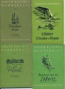 13 verschiedene DDR-Wanderhefte Dresden, Sächsische Schweiz und Umgebung