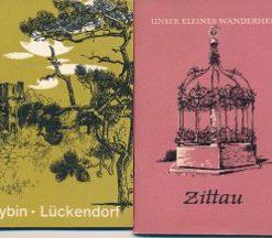 2 verschiedene DDR-Wanderhefte Zittau und Oybin