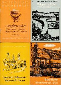 6 verschiedene DDR-Wanderhefte von Sachsen