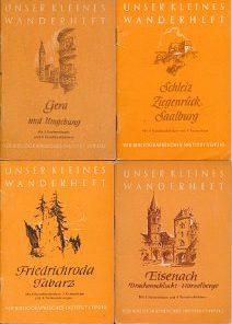 9 verschiedene DDR-Wanderhefte von Thüringen