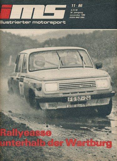 Illustrierter Motorsport 11/1986  DDR-Zeitschrift
