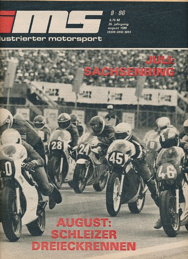 Illustrierter Motorsport 8/1986  DDR-Zeitschrift