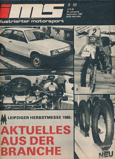 Illustrierter Motorsport 9/1986  DDR-Zeitschrift