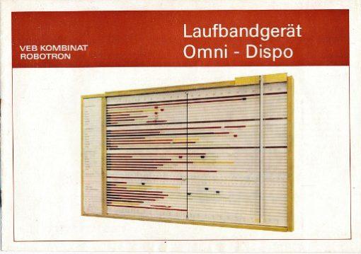 Laufbandgerät Omni – Dispo  DDR-Prospekt
