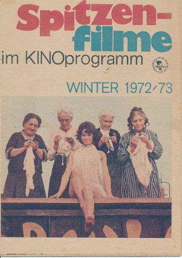 Spitzenfilme im Kinoprogramm Winter 1972/73  DDR-Prospekt