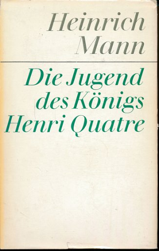 Die Jugend des Königs Henri Quatre  DDR-Buch