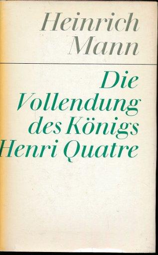 Die Vollendung des Königs Henri Quatre  DDR-Buch