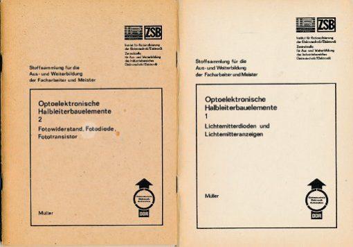 Optoelektronische Halbleiterbauelemente 1 und 2  DDR-Lehrmaterial