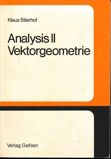 Analysis II  Vektorgeometrie