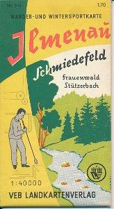Wander- und Wintersportkarte Ilmenau, Schmiedefeld, Frauenwald, Stützerbach  DDR-Landkarte
