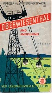 Wander- und Wintersportkarte Oberwiesenthal und Umgebung  DDR-Landkarte