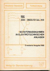 Schutzmaßnahmen in elektrotechnischen Anlagen  DDR-Buch