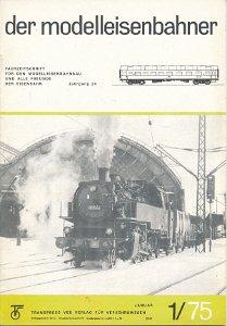 Der Modelleisenbahner 1-12/1975 außer 2/75   DDR-Fachzeitschrift