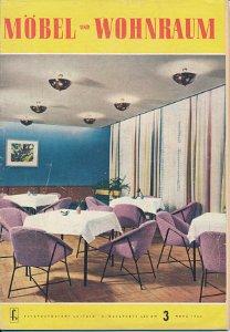 Möbel und Wohnraum 3/1963  DDR-Fachzeitschrift