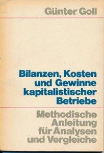 Bilanzen, Kosten und Gewinne kapitalistischer Betriebe  DDR-Buch