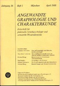 Angewandte Graphologie und Charakterkunde Heft 1/1988