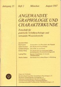 Angewandte Graphologie und Charakterkunde Heft 2/1987