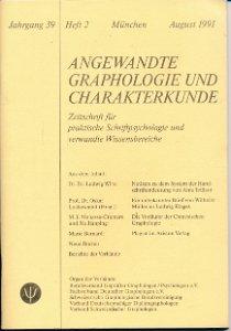 Angewandte Graphologie und Charakterkunde Heft 2/1991
