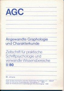 Angewandte Graphologie und Charakterkunde III / 80
