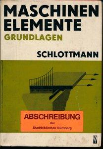 Maschinenelemente Grundlagen  DDR-Fachbuch