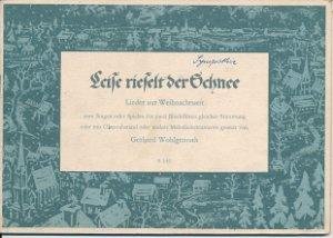 Leise rieselt der Schnee  DDR-Liederheft
